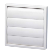 Persiana Plástica De Sobrepressão Branca 100mm 11820 PER-100 W