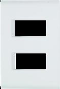 Placa 2p Afastadas Liz 4x2 10006 57106/006