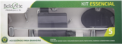Kit Banheiro 05 Peças Fumê 11857 KE530