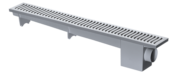 Ralo Linear Sinfonado Cinza 50cm 12057 4026