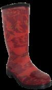 Bota Feminina Coleção Done Floral Vermelha 34/35 12096 CX DONNA 5 34/5