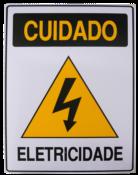 Placa Em Ps Sinal/adv - Cuidado Eletricidade  20x30cm 12235 S-217/2