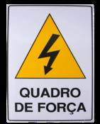 Placa Em Ps Sinal/adv - Quadro De Força 20x30cm 12236 S-217/1