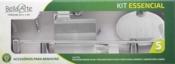 Kit Banheiro 05 Peças Cristal 12350 KE510