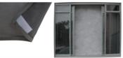 Tela Mosquiteiro Para Janela Com Velcro Cinza1,00x1,00 M 12380 1481