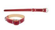 Coleira Caes Vermelha Sem Feltro 26 42cm 1498 017