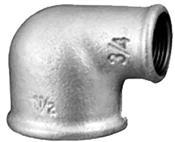 """Joelho Ferro Galvanizado Redução 90°    3/4""""x1/2"""" 2075 CG90-Ra"""