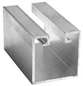 Trilho Alumínio Porta Pantográfico Reto Tipo U 38x38mm 2098 TP26.6000/10