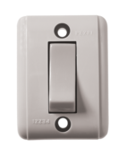 Interruptor Retangular Cinza Externo 1 Tecla Simples 10a 250v 2209 201-3