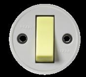 Interruptor Redondo Sobrepor Cinza Tecla Luminosa  10a 250v 2449 191L-3