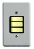 Interruptor Embutir Hotel 3 Teclas 2483 13130