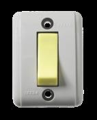 Interruptor Retangular Cinza Externo 1 Tecla Luminosa 10a 250v 2832 201L-3