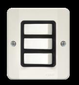 Interruptor 3 Teclas Simples Com Placa 3400 33100