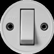 Interruptor Redondo Sobrepor Cinza Tecla Cinza  10a 250v 342 191-3