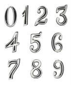 Número Casa Alumínio Altura 10 Cm 4 5010 101