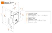 Fechadura Externa Auxiliar Esp Par Inox  Tubo 50mm - 1001 Par 5773 10811 PAR