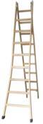 Escada Madeira Multiuso  9d. 2,70-4,0m 90kg 5870 334 90kg