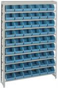 Prateleira Com 54 Gaveteiros K-5 Azul 1,5x1,0x21 6074 12326A