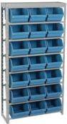 Prateleira Com 28 Gaveteiros K-7 Azul 1,50x95x34 6077 6811A