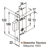 Fechadura Segurança Quadrada 40mm - 1003 6240 1003