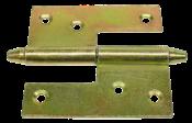 Dobradiça Ferro Polido Hamburguesa Bicromatizada 70mm 6309 33870/70MM