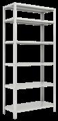 Estante 1980x925x420 - C/ 6 Prat. Ref. Chapa 26/20  - 30x30 6356 EDR-420/26