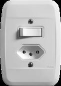 Interruptor 1tp+ Tomada Universal Com Placa 10a 6444 44116