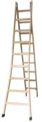 Escada Madeira Multiuso 15d. 4,50-8,00m 90kg 10900 0000000330  90kg