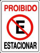 Placa Em Ps Sinal/adv - Proibido Estacionar 20x30 6770 P-1