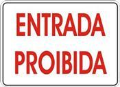 Placa Em Ps Sinal/adv - Entrada Proibida 20x30 6781 P-11