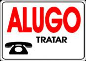 Placa Em Ps Sinal/adv - Alugo Tratar 30x20 6784 P-14