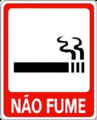 Placa Em Ps Sinal/adv - Não Fume 15x20 6793 P-28