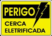 Placa Em Ps Sinal/adv - Perigo Cerca Elétrica 15x20 6801 S-219