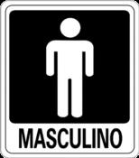 Placa Em Ps Sinal/adv - Masculino 15x20 6824 A-466
