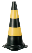 Cone Sinalização Preto/amarelo 75cm 7333 700.00515