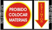 Placa Em Ps Sinal/adv - Extintor S-210 02 pc 7439 S-210