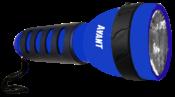 Lanterna Plástica Com Emborrachado Azul 7614 AZ-2XD