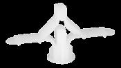 Bucha Fixação Gesso/luminária/quadros 4,0mma12,50mmpt. 50 Unidades 11036 GDP 1 DRY WALL