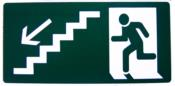 Placa Em Ps Sinal Verde Degrau Abaixo  Esquerda 15x30 8506 X-753
