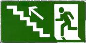 Placa Em Ps Sinal/subindo Degrau Esquerda 15x30 8508 X-755