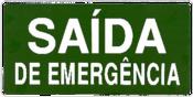 Placa Em Ps Sinal/saída Emergência Verde 15x30 8510 X-757