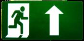 Placa Em Ps Sinal/seta Verde Para Cima 15x30 8512 X-761