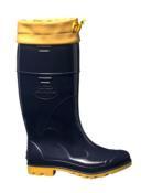 Bota Cano Longo Com Amarra Azul/amarelo Industrial N°38 C.a.39.764 8718 CLAAA/508