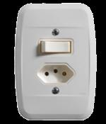 Interruptor Embutir 1tp+tomada (2p+t) 20a 8988 44117