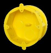Caixa Embutir Octogonal 4x4 Em Termoplastico Amarela 9019 4X4