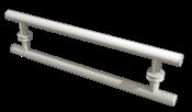 Puxador Blindex Alumínio Escovado Origem 600ae 9074 600.600.01