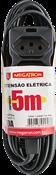 Extensão Cabo Pp 5m 10a 250v 2p+t 0,75 Preto 9559 169950