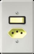 Interruptor Embutir Simples  1 Tecla/1 Tomada 20a 967 14107