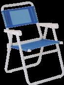 Cadeira De Praia Master Aço Azul 9934 7896020620037