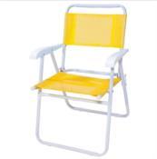 Cadeira De Praia Master Aço Amarela 9935 7896020620211